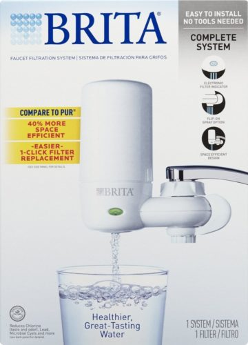 Brita COMINHKR063772 Tap Faucet Water, Includes1 System+2 Filters, White