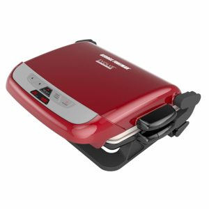George Foreman with ceramic plates