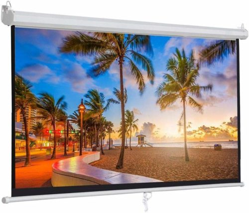 #2. ZENY 100-Projector Screen-Projection, Easy to mount