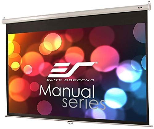 Elite-Screens Manual-150 INCH-Projector, Has a wider viewing angle