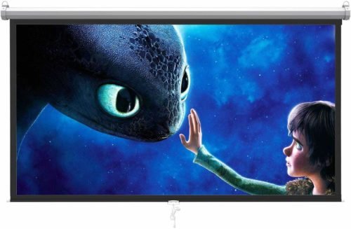 PERLESMITH-Manual-Pull-Projector-Screen, Has a strong steel casing