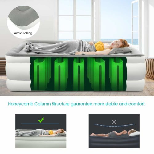 DASFOND Best Inflatable Air Mattress,The best air mattress for quick and easy installation