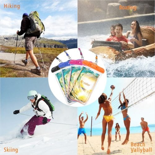 #3. F-color Waterproof Case,The best and affordable waterproof phone cases for swimming