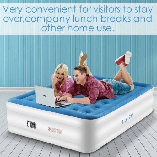 TILVIEW Queen Size Air Mattress,The best simple to use an air mattress for everyday use