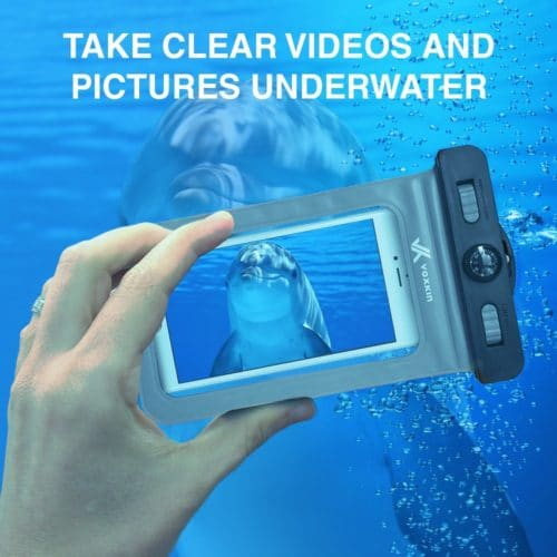 #4. Voxkin waterproof case,The best and quality waterproof phone cases for swimming