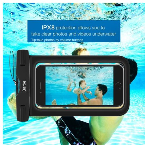 # 7. IBarbe waterproof case, The best and stylish waterproof phone cases for swimming
