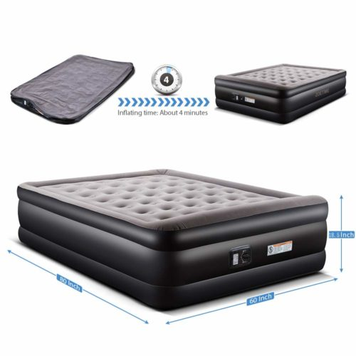 Zoetime Upgraded Queen Air Mattress,The best duarable air mattress for everyday use