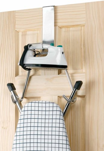 #1. Over The Door Board Mount Chrome, Best for extra-large ironing board (Y-Type)