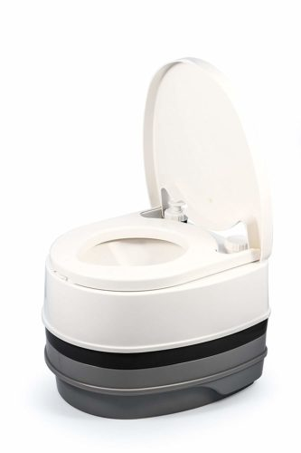 #4. Camco-41535 Premium Portable Travel Toilet, Best luxury composting toilet for small to medium usage