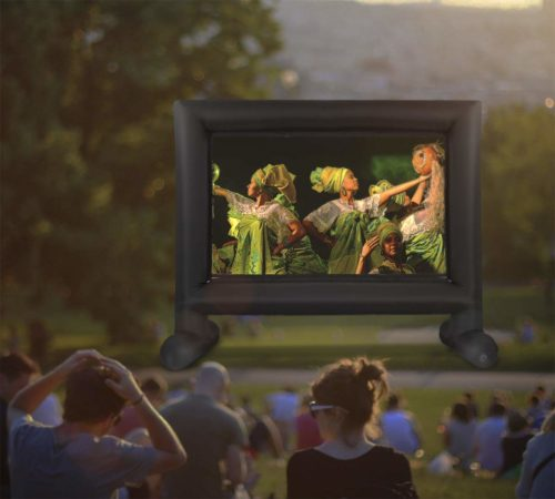 Giant-Inflatable-Movie-Screen-Built, Best for dual projection