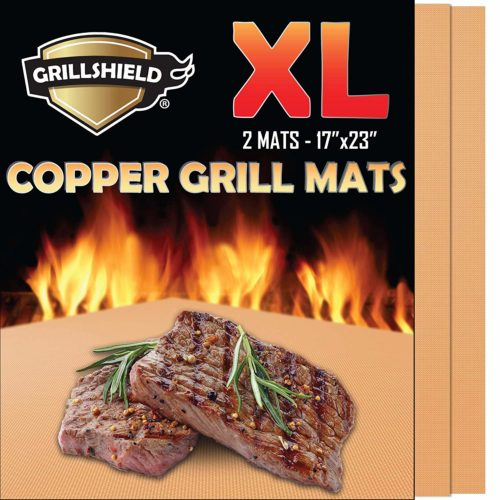 GrillShield Copper Grill mat -The best copper grill mat for heating and grilling needs