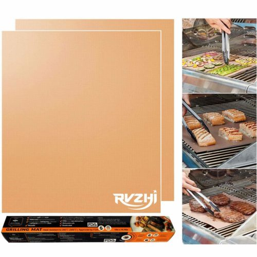 RVZHI Copper Grill Mat - The best copper grill mat for non-stick food