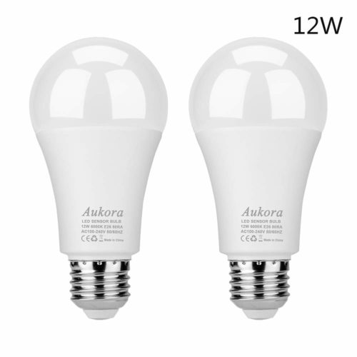 #10. Aukora 100-Watt-Equivalent Automatic Security -Best as a security light