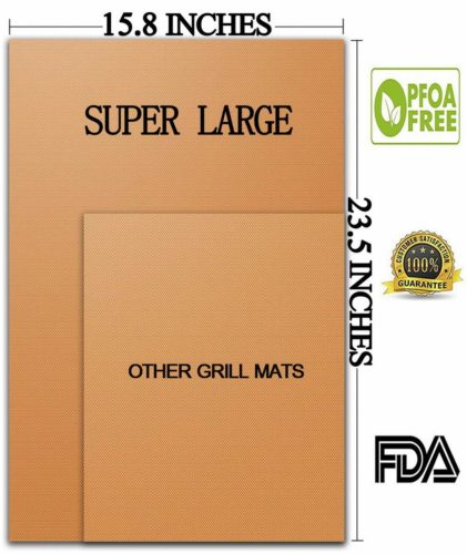 Aurora Gadgets Extra Large Copper Grill Mats - The best large grill mat for nonstick food