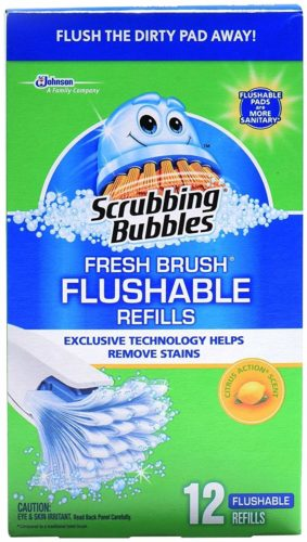 Scrubbing Bubbles Fresh Brush Flushable Refill 12, Best Eco-friendly disposable toilet bowl cleaner