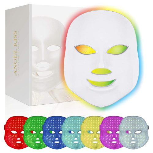 Angel Kiss 7 Color Photon Blue Red Light Therapy Skin Rejuvenation Facial Skin Care Mask
