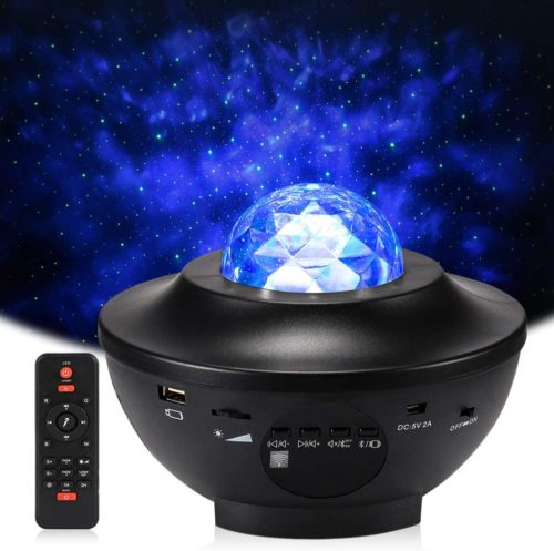 Star Projector Night Light, Delicacy Sky Laser Ocean Wave Starry Projector with Bluetooth Speaker,Rotating LED Nebula Cloud Light for Kids Adults Bedroom Decoration