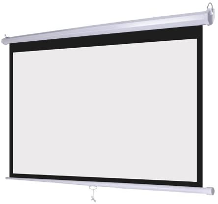 """Wall Mount Manual Pull Down Projector Screen 16:9 Aspect Ratio: Multiple Sizes Available (100"""")"""